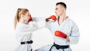 karate sparring, karate kumite
