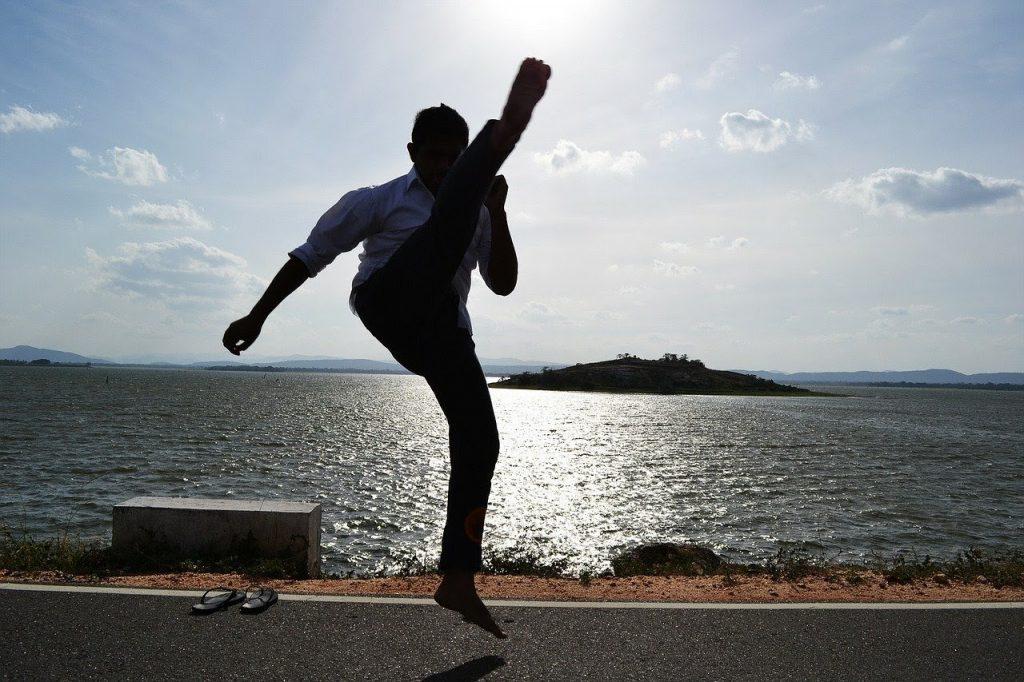 karate kick - crescent kick