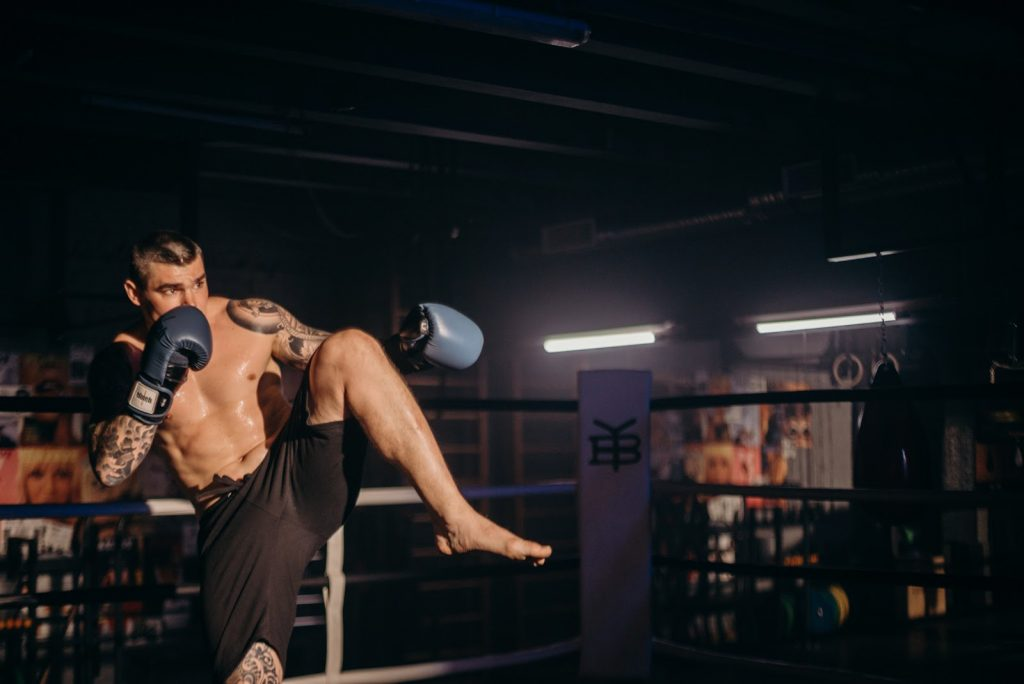 karate kick - front kick
