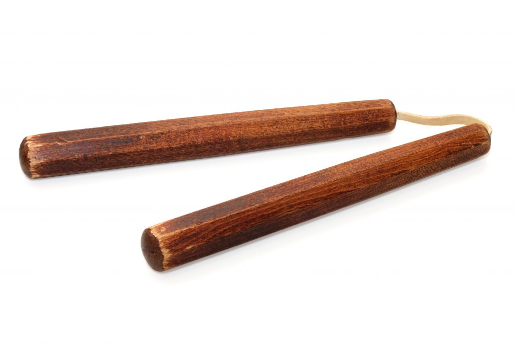 karate weapons: Nunchaku
