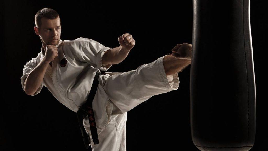 kick punching bag