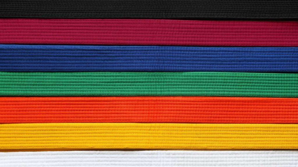 karate belt order, karate belts, karate belt ranks, karate belt colors