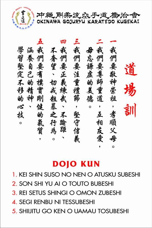 Okinawa Goju-Ryu Karate Dojo Kun